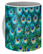 Peacock Feathers Coffee Mug by Nikki Marie Smith