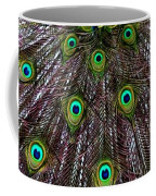 Peacock Feathers Upside Down Coffee Mug