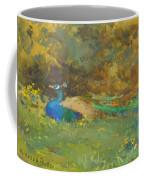 Peacock In A Garden Coffee Mug