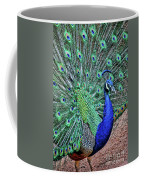Peacock In A Oak Glen Autumn 2 Coffee Mug