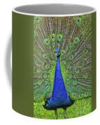 Peacock In A Oak Glen Autumn 3 Coffee Mug