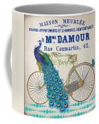 Peacock On Bicycle-jp3607 Coffee Mug
