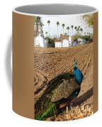 Peacock On The Farm Coffee Mug