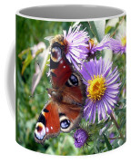 Peacock With Bee Coffee Mug