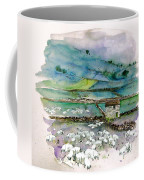 Peak District Uk Travel Sketch Coffee Mug