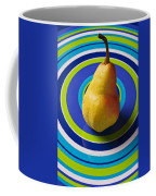 Pear On Plate With Circles Coffee Mug