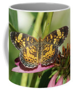Pearl Crescent Butterfly On Coneflower Coffee Mug