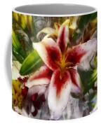 Pearly Petals Satin Leaves Coffee Mug