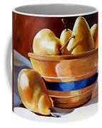 Pears In Yelloware Coffee Mug