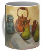 Pears With Copper Kettle Coffee Mug