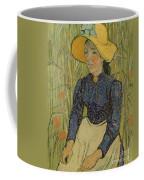 Peasant Girl In Straw Hat Coffee Mug