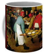 Peasant Wedding Coffee Mug by Pieter the Elder Bruegel