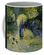 Peasants Carrying Straw Montfoucault 1875 Camille Pissarro Coffee Mug