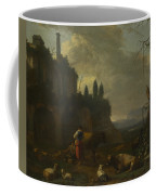 Peasants With Cattle By A Ruin Coffee Mug