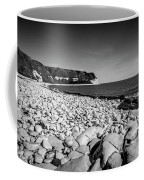 Pebble Beach At Flamborough. Coffee Mug