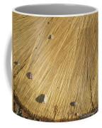 Pebbles And Texture On A Crosscut Log Coffee Mug