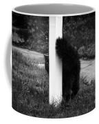 Peeking Kitty Black And White Coffee Mug