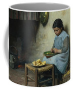 Peeling Potatoes Coffee Mug