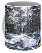 Peeling Winter Away Coffee Mug