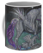Pegasus Mare And Foal Coffee Mug