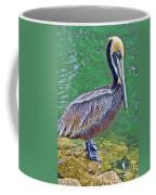 Pelican By The Pier Coffee Mug