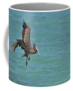 Pelican Contemplating A Water Landing In Aruba Coffee Mug