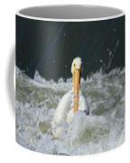 Pelican In Rough Water Coffee Mug