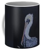 Pelican On Black Coffee Mug