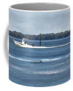 Pelican Porpoise And Fishermen Coffee Mug