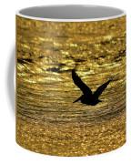 Pelican Silhouette - Golden Gulf Coffee Mug