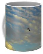 Pelican Soaring At Sunset Coffee Mug