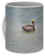 Pelican Swimming  Coffee Mug