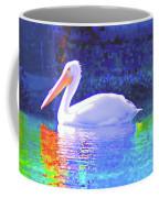 Pelican With Blue Coffee Mug