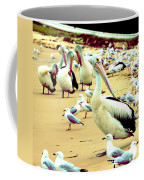 Pelicans At Pearl Beach 4.1 Coffee Mug
