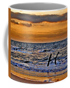 Pelicans Crusing The Coast Coffee Mug