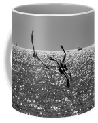 Pelicans Flying By - Black And White Coffee Mug