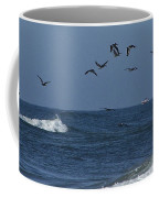 Pelicans Over The Atlantic Coffee Mug