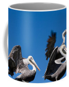 Pelicans Take Flight Coffee Mug