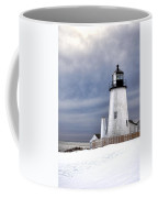 Pemaquid Point Lighthouse In Winter Coffee Mug
