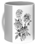 Pen And Ink Roses Coffee Mug