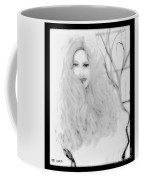 Pencil Sketch Of Blonde Hair Girl Coffee Mug