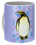 Penguin On Stained Glass Coffee Mug