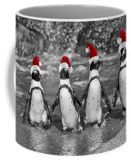 Penguins With Santa Claus Caps Coffee Mug