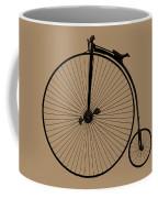 Penny Farthing Sepia Coffee Mug