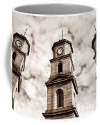 Penryn Clock Tower In Sepia Coffee Mug