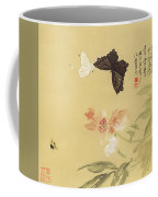 Peonies And Butterflies Coffee Mug