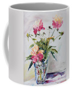 Peonies In Crystal Vase Coffee Mug
