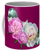 Peonies In Pink And Blue Coffee Mug
