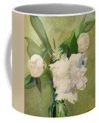 Peonies On Green Coffee Mug