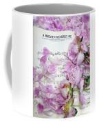 Peonies On Music Sheet - Pink Peonies Shabby Chic Inspirational Print - Peony Home Decor Coffee Mug